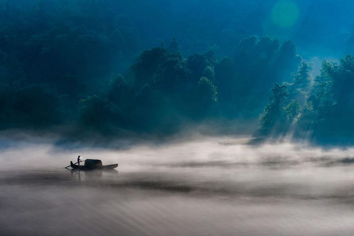 Misty River by Sammy Wong